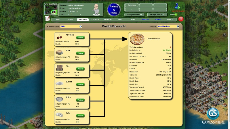 Producers & Traders Screenshot